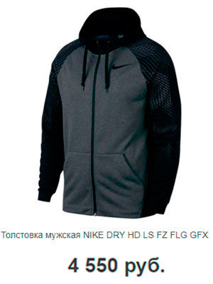 Толстовка мужская NIKE DRY HD LS FZ FLG GFX